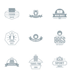 sport parade logo set simple style vector image