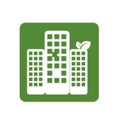 Square frame with ecology city vector