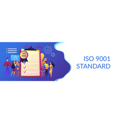 standard for quality control concept banner header vector image