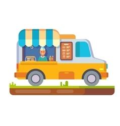Store fast food van vector image