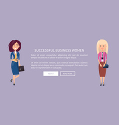 successful business women online web poster page vector image