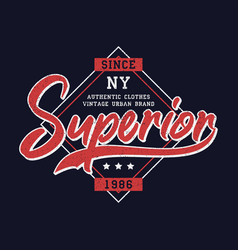 Superior denim print for t-shirt design vector