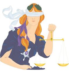 Themis goddess justice femida vector