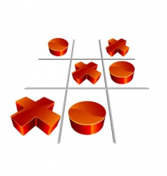 Tic-tac-toe 3D illustration vector image