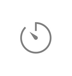 timer icon symbol simple design eps10 vector image