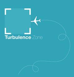 turbulence zone vector image