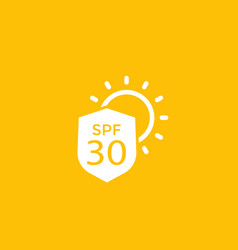 Uv protection spf 30 icon vector