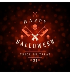 Vintage Happy Halloween Typographic Design vector