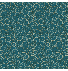 Vintage seamless pattern with spiral elements vector