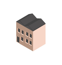 warehouse industry building isometric style vector image