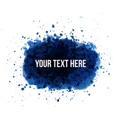 big blue grunge splash with place for your text on vector image vector image