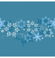 border with snowflakes vector image