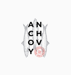 fish producers or restaurant abstract sign vector image