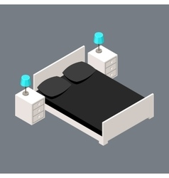 isometric bedroom vector image vector image
