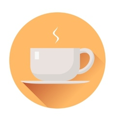cup of coffee icon vector image vector image