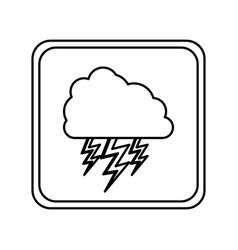 emblem cloud with ray icon vector image vector image