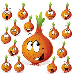 onion cartoon vector image