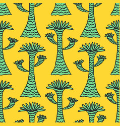seamless tropical jungle palm leaves pattern vector image