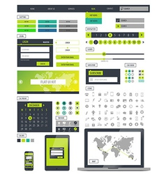 Ui kit responsive web design Icons template mockup vector image