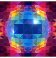 Abstract triangles sphere seamless pattern vector image vector image