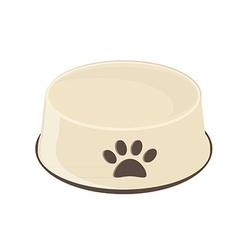 Empty dog bowl vector image
