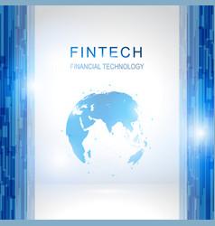 fin tech internet concept vector image vector image