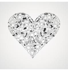Food heart vector image