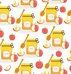 Honey and apples seamless texture vector image