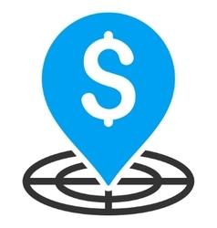 Money Target Flat Icon vector image