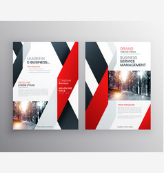 red black geometric shape business flyer poster vector image vector image