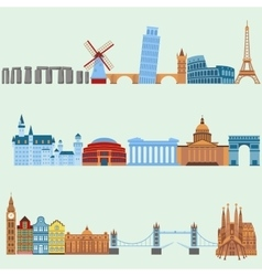 Travel outdoor Euro trip vacation travelling vector image vector image