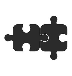 two piece of puzzle vector image