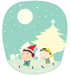 Winter kids vector image vector image
