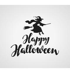 Happy Halloween handwritten lettering vector image
