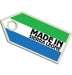 Made in Sierra Leone vector image