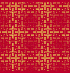 swastika ornament seamless pattern vector image vector image