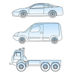 abstract cars vector image
