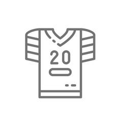 american football uniform t-shirt line icon vector image