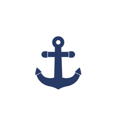 anchor icon port sign vector image