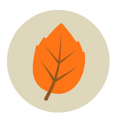 autumn leaf flat icon vector image
