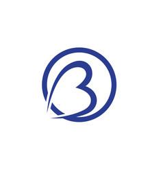 b letter icon design vector image