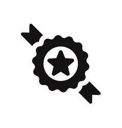 badge with star icon vector image