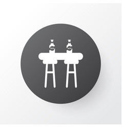 bar counter icon symbol premium quality isolated vector image
