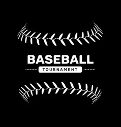 Baseball lace ball isolated symbol vector