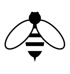 Bee the black color icon vector