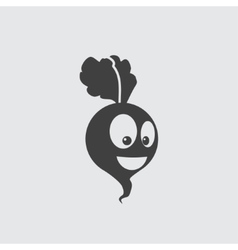 beet icon vector image