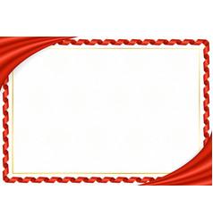 Border made with hong kong national colors vector