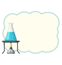 Border template with chemical in beaker vector