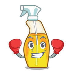 Boxing bottle spray in character form vector