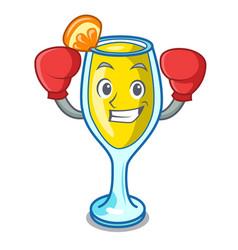 Boxing mimosa character cartoon style vector